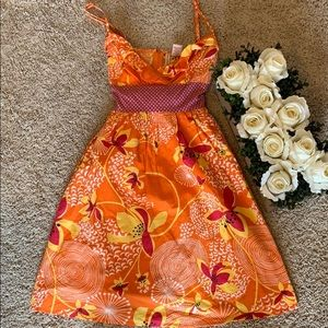 Fire Los Angelos floral dress Small